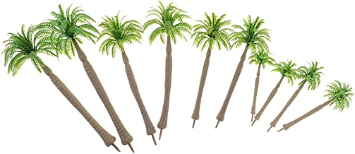 Blesiya 1/50 Miniatures Layout Tree Models Green Coconut Tree for Warhammer Diorama