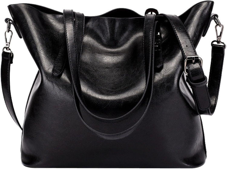 Damenhandtaschen Kuh-Lederhandtaschen Herbst Winter Schulter Messenger Bags Bags Bags (Farbe   SCHWARZ, größe   M) B07L74M3T1  Großer Räumungsverkauf 955c4b