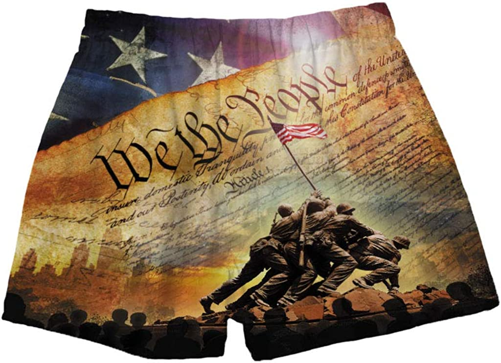 BRIEF INSANITY Men's Boxer Shorts Underwear We The People Flag Print