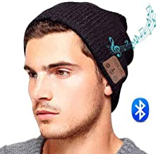 ULTRICS Wireless Bluetooth V5.0 Music Headset Hat, Organic Cotton Beanie Cap with Stereo Speaker Headphones, Microphone, Handsfree Call Receive Control for All Smartphone and Devices, Men and Women