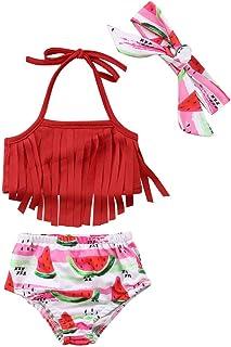 xkwyshop Toddler Infant Baby Girl Swimsuit Bikini Toddler Girls Swimwear Bathing Suit 2 Piece Beachwear 6M-5T