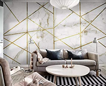 Wallpaper 3d Simple White Marbled Gold Lines Modern Living Room Bedroom Large Mural Wall Decoration Amazon Com