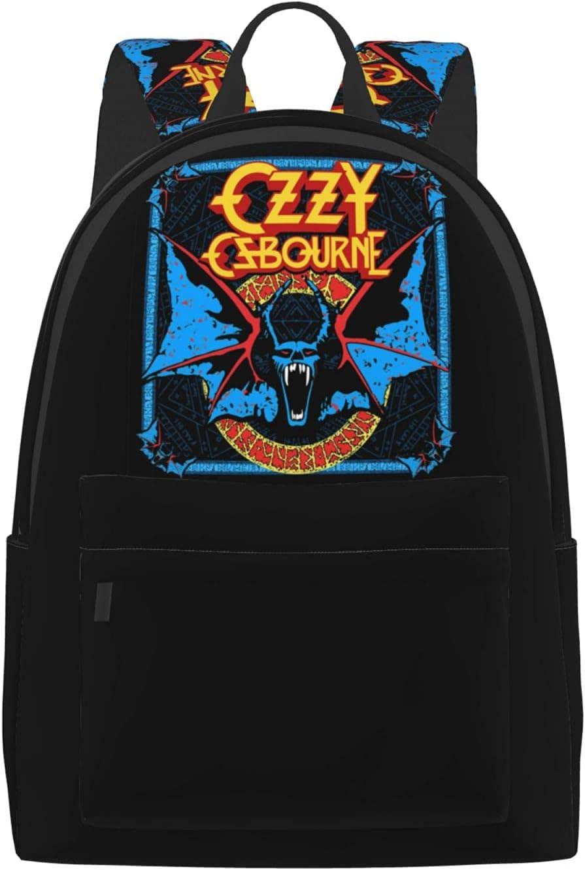 Ozzy Osbourne Branded goods Man'S Womans Backpack 55% OFF Practical Adjustabl Book Bag