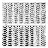 FRCOLOR 80 pares de pestañas postizas naturales, 8 estilos de pestañas largas y gruesas para las...