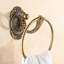 Towel ring Retro muur gemonteerde messing badkamer opknoping ring snijwerk proces