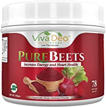 PureBeets | 100% Organic Pure Beet Root Powder | Best Value Beetroot Nitric Oxide Supplement | Beets Support Faster Recove...