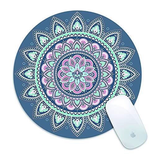 Minile Mandala - Alfombrilla para ratón (goma, antideslizante), diseño de mandala