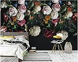 Yosot Tapete Benutzerdefinierte Hintergrundbilder Für Wände 3D-Vintage Handgemalten Floralen Wandbilder Für Wohnzimmer Schlafzimmer Tv-Kulisse Home Decor-350Cmx245Cm