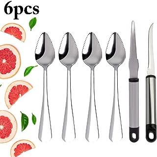 Grapefruit Spoons, JUSTDOLIFE Grapefruit Dessert Spoons Stainless Steel and Grapefruit Knife Set for Kitchen