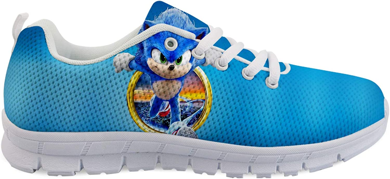 Hedgehog Anime Unisex Adult Running Shoes Non Slip Shoes Breathable Lightweight Sneakers Slip Resistant Athletic Sports Walking Gym Work Casual Shoes