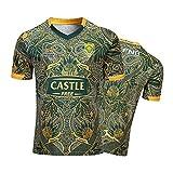 YINTE 2019-20 Afrique du Sud Springboks Rugby Jersey, T-Shirt Graphique en Jersey De Coton De Coton pour Hommes, Afrique du Sud 100e Anniversaire Sportswear XXXL