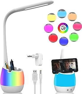 ERAY Lampe de Table Dimmable, Lampe de Chevet pour Enfants avec Porte-Crayon/Batterie rechargeable de 2000mAh/ Veilleuse C...