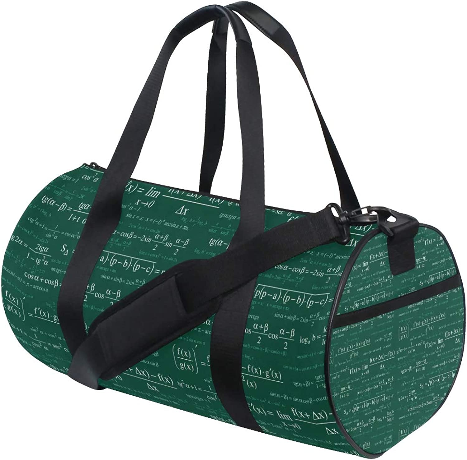 Russe Gym Bag Math Equations Book Formula with shoes Compartment Waterproof Travel Duffel Bag for Women and Men