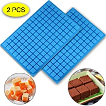 (2 PCS)126 Cavity Square Silicone Mold/Mini Candy Molds for Chocolate Gummy Ice Cube Jelly Truffles Pralines Caramels Gana...