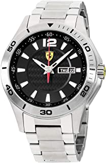 Ferrari Men's 0830094 Scuderia Analog Display Quartz Silver Watch