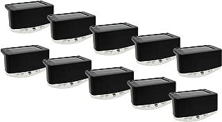 Davinci Solar Outdoor Lights – Lighting for Deck Post Fence Steps or Dock - Bright Warm White LED, Waterproof, Wireless, Slate Black (10 Pack)