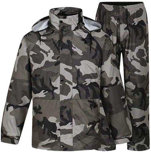 JTWJ Camouflage imperméable Pantalon de Pluie Costume Split imperméable Corps imperméable épais, approprié pour Les Voyages, Festivals, activités de Plein air