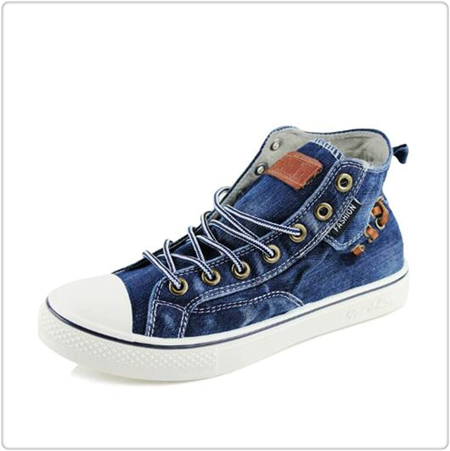 GLOPY& Casual Denim Sneakers Women Vulcanize Platform Sewing Plus Size 44 Canvas shoes