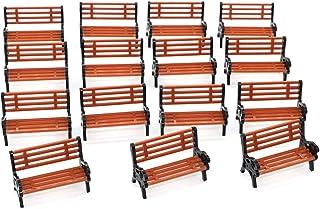 15pcs 1:30 G Scale Garden Park Street Seat Bench Chair Settee Model Railway Platform