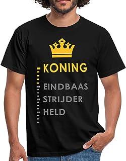 Spreadshirt Koning Eindbaas Strijder Held Grappige Koningsdag Mannen T-shirt