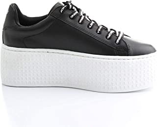 Luxury Fashion | Windsor Smith Women SEOULBLACKWHITE Black Leather Sneakers | Spring-summer 20