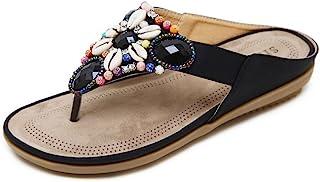 2020 Zapatos Sandalias Mujer Chanclas Tacon del Verano Zapatos Bohemias Cómodos Las Sandalias Planas