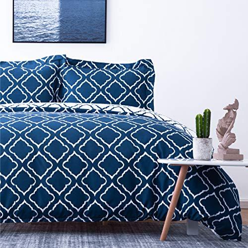 Bedsure Bettbezug Bett 90 Marineblau -...