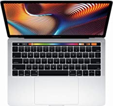"Apple 13"" MacBook Pro, Retina, Touch Bar, 3.1GHz Intel Core i5 Dual Core, 8GB RAM, 256GB SSD, Silver, MPXX2LL/A (Renewed)"