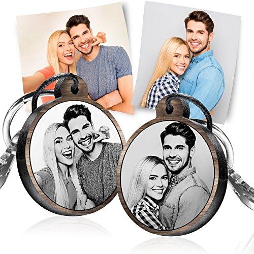 schenkYOU Schlüsselanhänger mit Foto aus Holz - personalisierte Geschenkidee