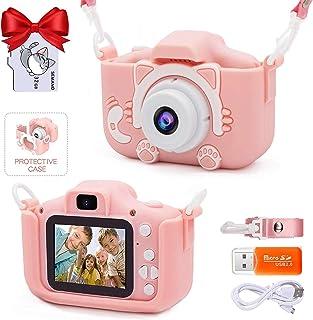 كاميرا سيلفي مطورة للاطفال من سيمانو، مثالية كهدايا لأعياد الميلاد والكريسماس للبنات من سن 3-9 سنوات، كاميرات فيديو رقمية ...