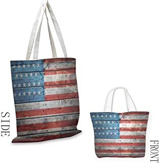 Crossbody men Rustic American USA Flag July Independence Day Weathered Antique Wooden Looking National Celebration Image Daily wallet handbag 16.5