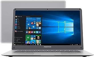 "Notebook Positivo Motion Q232A, Intel Atom Quad Core Z8350, 2GB RAM, SSD 32GB, SSD 32GB, tela 14"" LCD, Windows 10, 3001184"