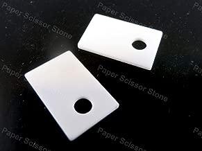 FidgetKute 10pcs TO-220 1mm Aluminum Oxide Alumina Ceramic Insulator Plate High Temperature