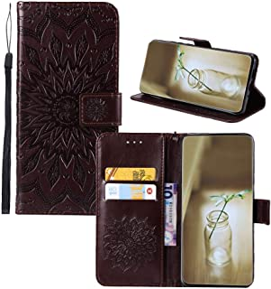 IVY [3D Sun Flower] for LG K40/K12 Plus/X4 2019 Case PU Leather Wallet Flip Cover - Brown