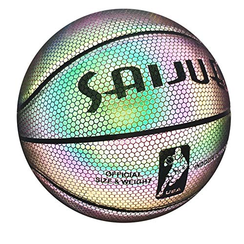 Lowest Prices! YZPXDD Game Holographic Basketball Mens Official NBA Size 29.5 Size 6 Womens WNBA 28....