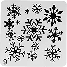Azeeda Snowflake Wall Stencil Template WS00038905