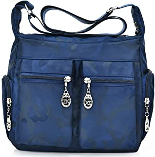 FiveloveTwo Damen Wasserdicht Nylon Schultertasche Shopper Hobo Tragetaschen Rucksack Umhängetasche Tote Taschen für Alltag Büro Schule Ausflug Einkauf Shoulder Bag