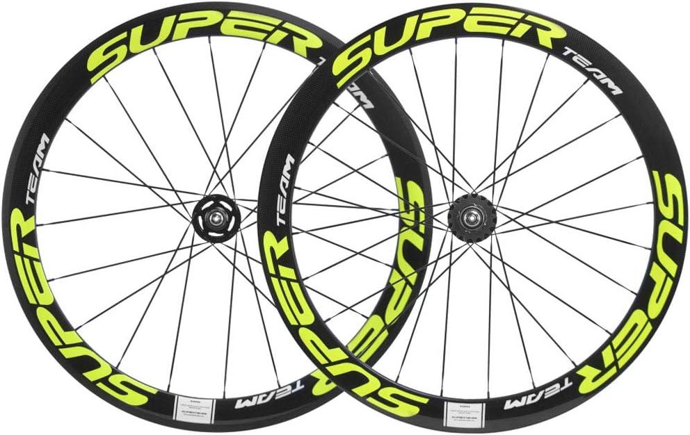 Superteam 50 23mm Carbon Wheelset Fixed Luxury goods Gear Bike Manufacturer regenerated product 700c Wheel Cli