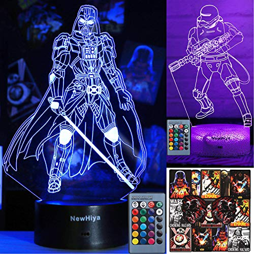 NewHiya 3D Illusion Star Wars Lamp