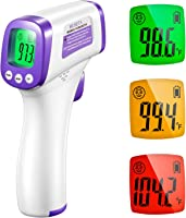 HY Infrared Thermometer Forehead Digital Temperature Thermometer with Accurate Instant Reading Fever Alarm Ideal for Adult Kid on Office Apartment Market Mall Entrance(1pc)