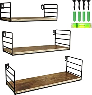 UMI. by Amazon Estantes flotantes rústicos con Montaje en la Pared para Salas de Estar cocinas u oficinas Set de 3
