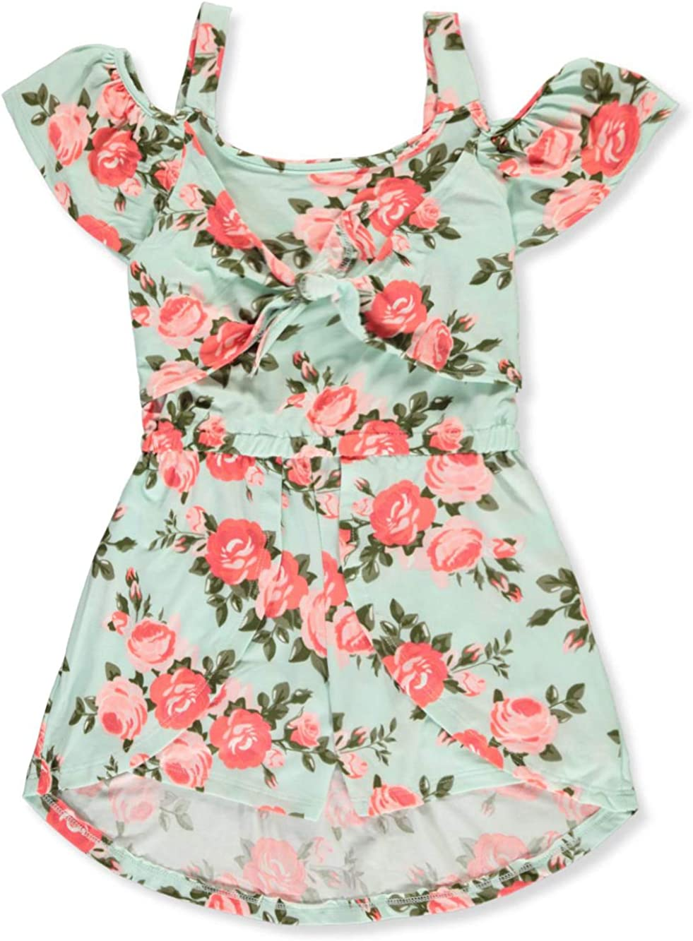 One Step Up Girls Floral Romper//Dress Combo