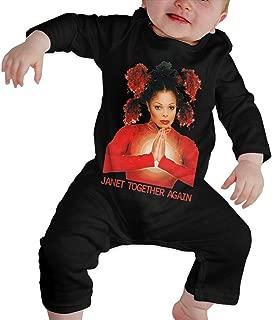 Janet Jackson Baby Boy Girl Long Sleeve Jumpsuit Jumpsuit Button Black