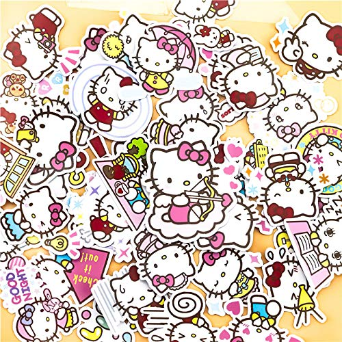 40Pcs/Pack Creative Kawaii self-Made Hello Kitty Scrapbooking Stickers/Decorative Sticker/DIY Craft Photo Album