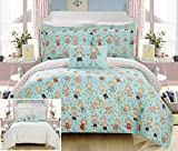Chic Home Woodland 6 Piece Reversible Comforter Happy Kids Theme Printed Design Bed in a Bag-Sheet Set Decorative Pillow Sham Included/XL Size, Twin, Green