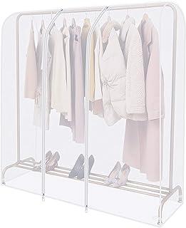 Anjing Housse transparente pour tringle à vêtements avec fermeture éclair solide et poche à documents housse penderie ,Por...