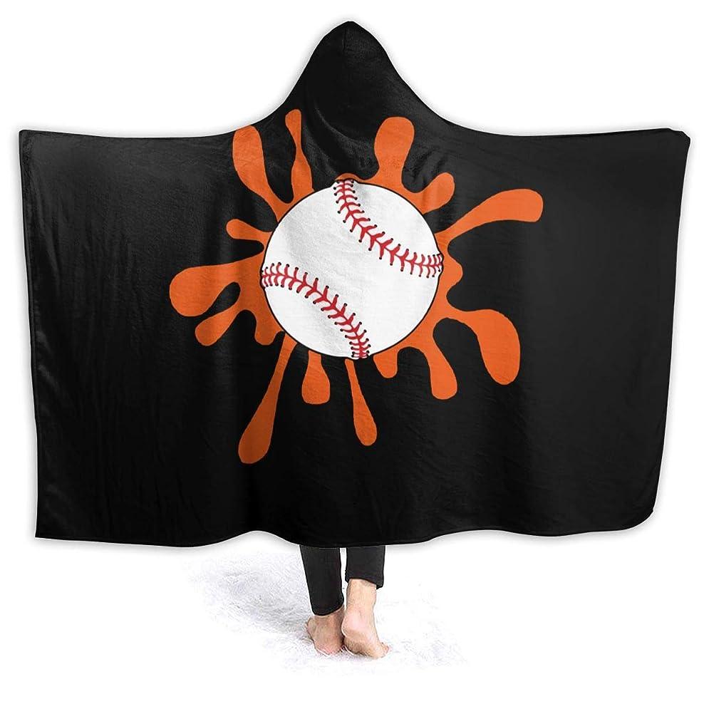 売り手クラブ聞くHR.LLM 野球 フード付き毛布 着る毛布 毛布 膝掛け毛布 ラップタオル 冷房/防寒対策 防寒保温 防静電加工 軽量 厚手 大判