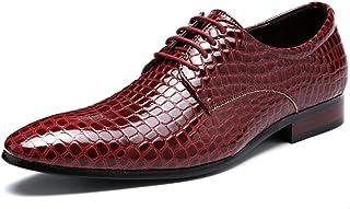 XIUWU Men's Faux Snake Skin Oxford Shoes Lace UP Footwear