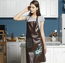 Apron Designs Home Kitchen Apron Fashion PU Waterproof Apron (Coffee)