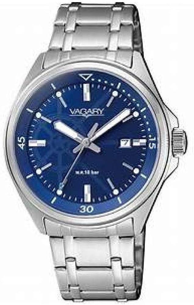 Vagary by Citizen - Reloj de mujer de acero, con esfera azul, solo tiempo, colección Acqua 39, código IU1-310-71